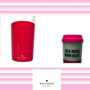 "NEW Kate Spade thermos ""cold hands warm heart"""
